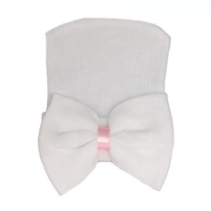 white newborn baby hats