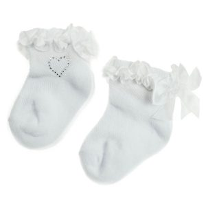 white baby ankle socks