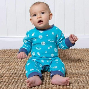 organic cotton baby boy romper suit