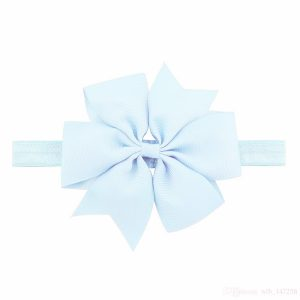 blue baby hair bow