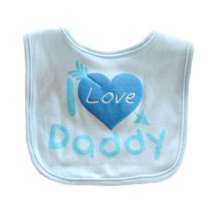 blue i love daddy baby bibs