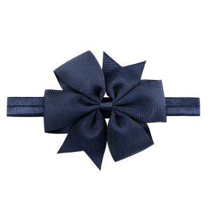 baby hair bow headband navy
