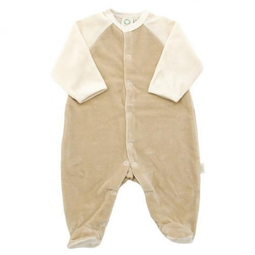 Organic Baby Velour Sleepsuit 0 3 Months Tots Baby Shop