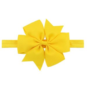 baby hair bow yellow