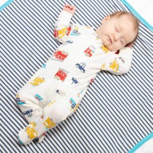 organic cotton baby boy sleepsuit