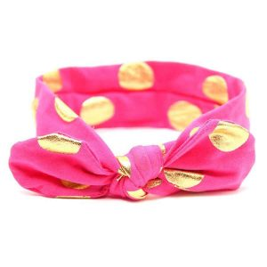 bow knot headband pink