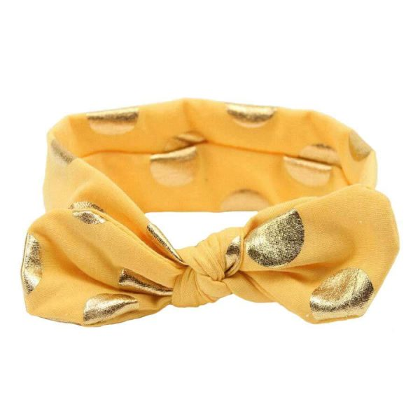 baby girl headband yellow