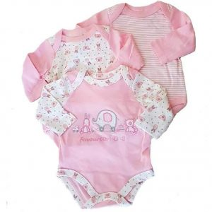 pink baby bodysuits