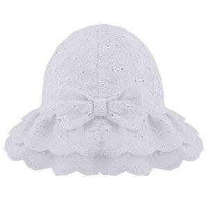 white baby girl hat