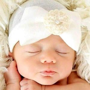 baby hats with bows