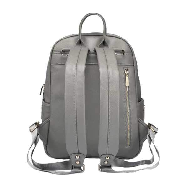 grey backpack changing bag