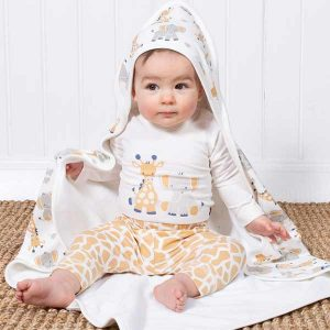 organic hooded baby blanket