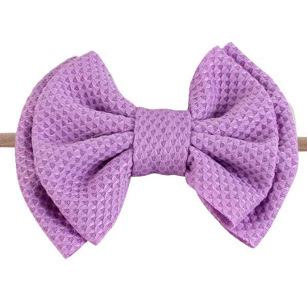 lilac baby hair bow headband