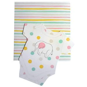 new baby gift message card