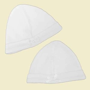 white premature baby hats