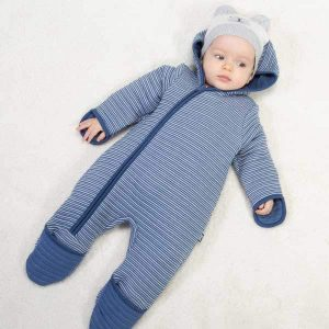 organic cotton baby boy playsuit