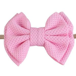 big bow baby headbands pink
