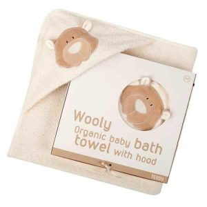 organic baby towel hooded