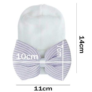 baby hats with bow