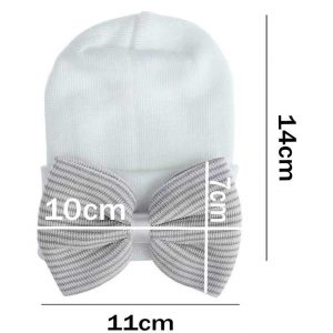 grey newborn baby hats with bows
