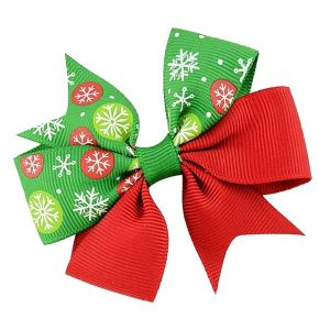 girl hair clip bows christmas
