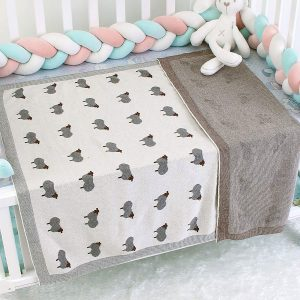 breathable knitted baby blankets
