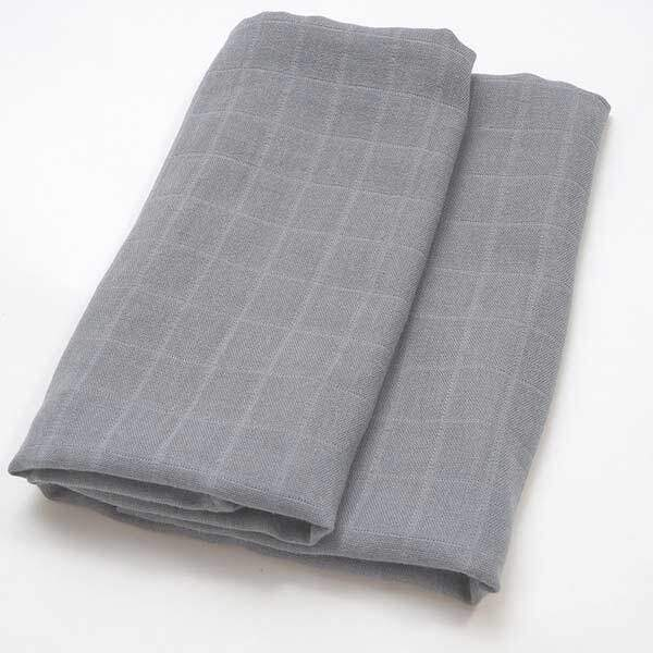 baby muslin cloths grey