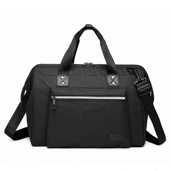 blaxk messenger baby changing bag