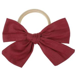 bow headband red
