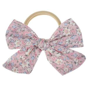 girls floral bow headband