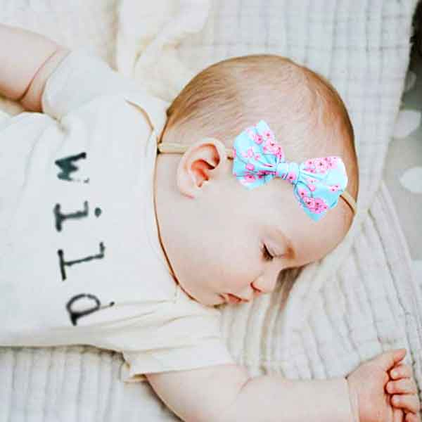 girls hair bow skinny headband