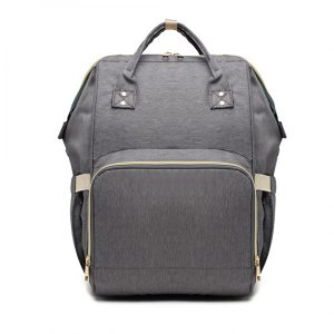 grey baby changing bag backpack