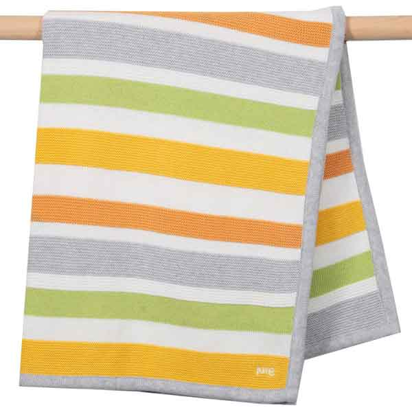 organic cotton knitted baby blanket