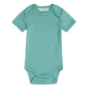 short sleeve baby boy bodysuit organic cotton