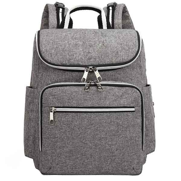 grey backpack baby changing bags