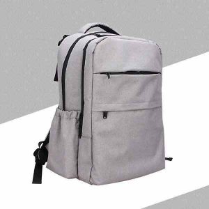 grey backpack baby changing bag