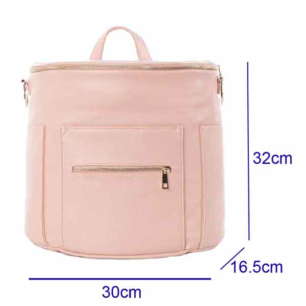 baby changing bag backpack pink leather
